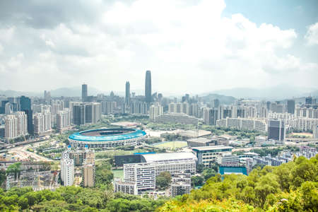 Bagualing skyline of Shenzhen