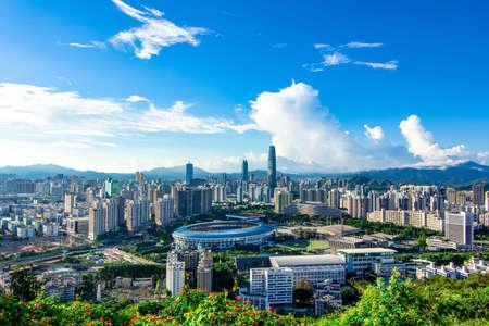 Skyline van Shenzhen Stockfoto