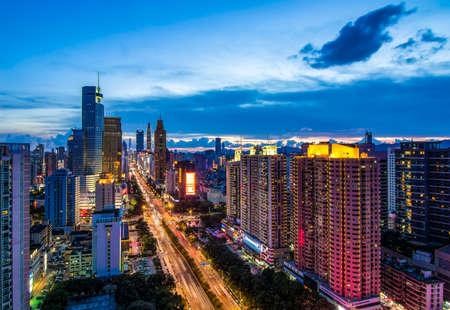 Night view of Shenzhen