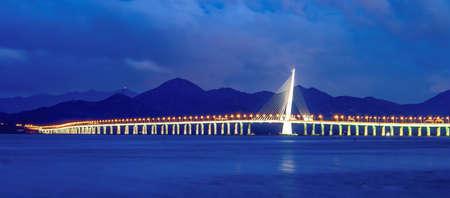 shenzhen bay bridge Фото со стока