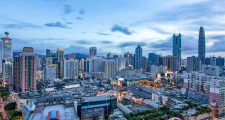 Night view of Shenzhen city