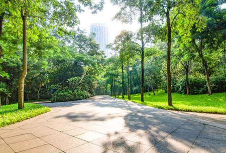 Public gardens landscape scenery view Stock Photo
