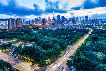 estate: Shenzhen skyline landscape view