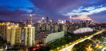 Shenzhen Futian night view