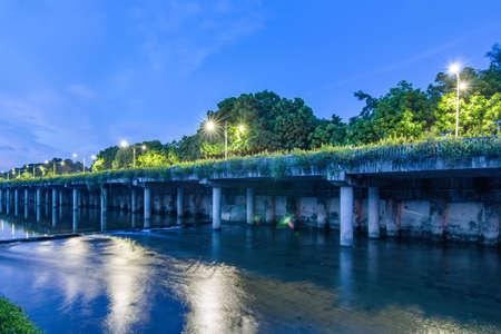 Night view of Buji River, Shenzhen