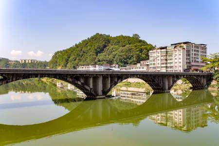 Mei River landscape view