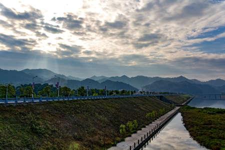 Mei River Park landscape view