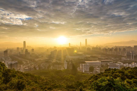 Sunrise at Beacon Hill Park, Shenzhen