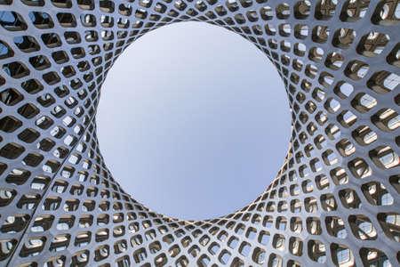 Structure de bâtiment géométrique Banque d'images - 98240473