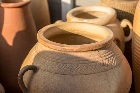 Traditional pottery jar Stock Photo