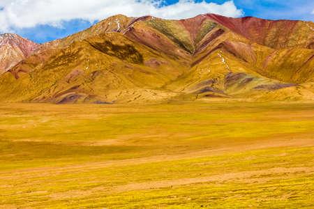 landscape of mountain on Qinghai Plateau, China Stock Photo