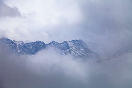 Baron Hill scenery with snow at Western Sichuan, China.