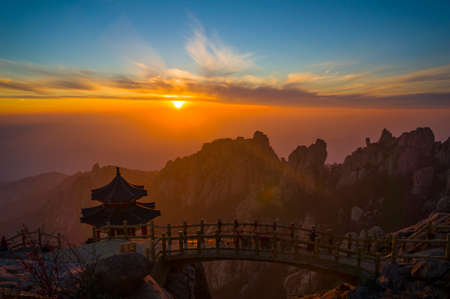 the gloriette: gloriette on the laoshan mountain