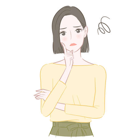 Illustration of a troubled woman 向量圖像