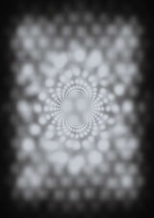 Digital image of a white vortex with black background.