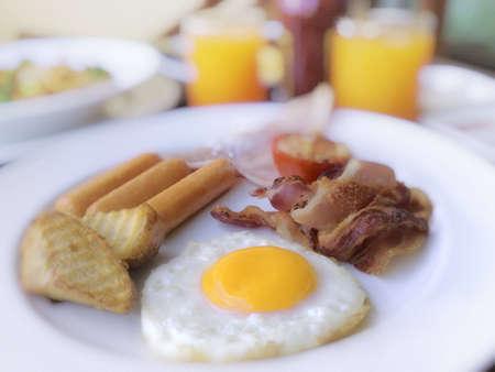 Breakfast foods.