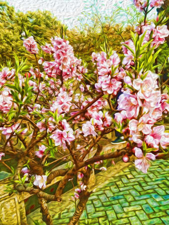 Oil painting flower background