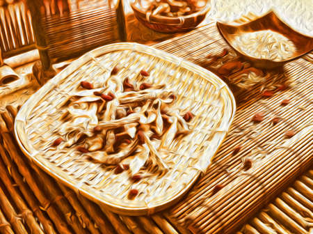 Oil painting spices background