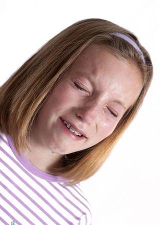 heartbroken: pretty little girl crying