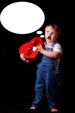 little valentine making a speech Stock Photo - 7352171