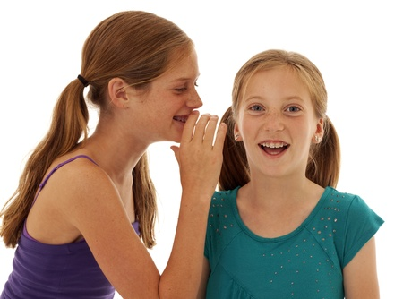 pretty young girls telling secrets photo