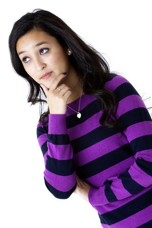 young woman thinking Stock Photo - 12478263