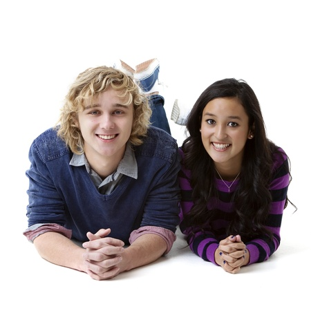 attractive smiling young couple photo