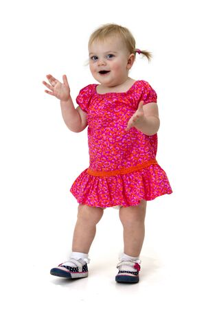 aplaudiendo: niña feliz batiendo palmas Foto de archivo