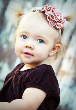 beautiful blue eyed baby Stock Photo