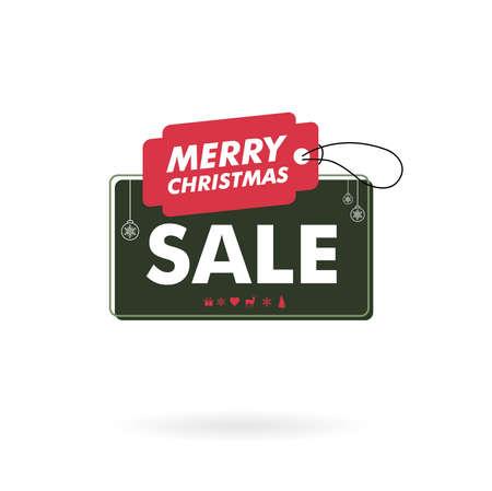 feliz navidad - gran venta 70 - insignia de venta de oferta de navidad Ilustración de vector