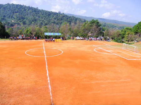 Ground football field