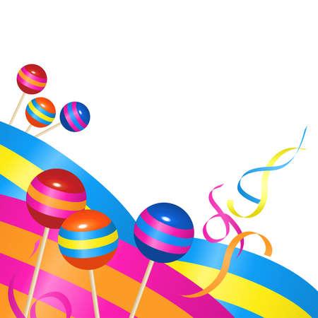 Contexte de bonbons et de rubans