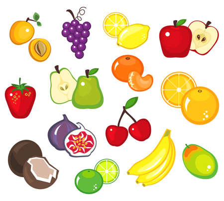 Illustration of various fruits - part 1 Illustration