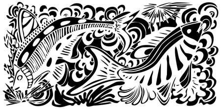 Illustration of underwater life Vector