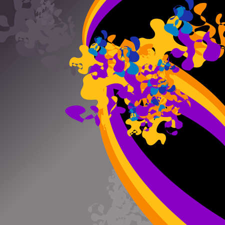 Abstract background with rainbows and paint splash Vector