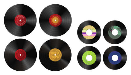 oldies: Illustration of various records