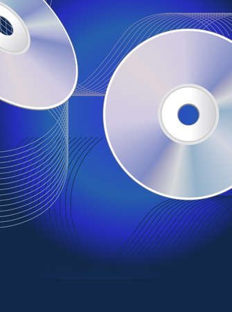 cds: Abstract background with CDs Illustration