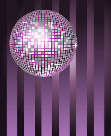 Abstract background shining disco ball Vector