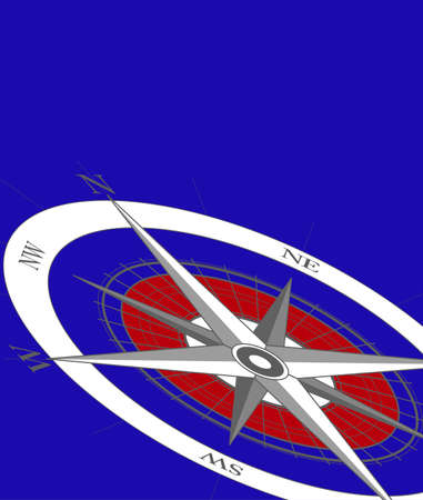Abstract background with a compass Vector