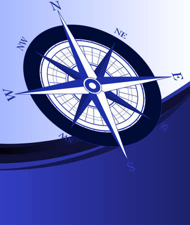 Abstract background with a compass Stock Vector - 4557187