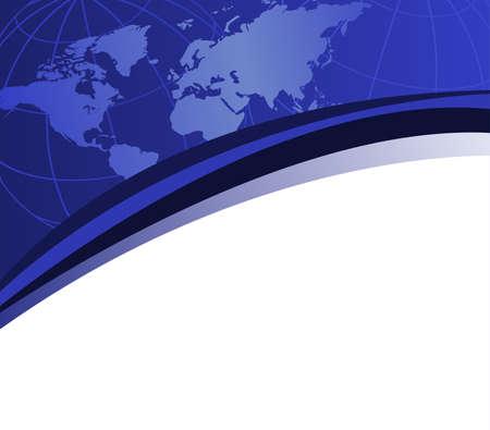 commerce: Fond avec la carte du monde et de l'espace pour le texte