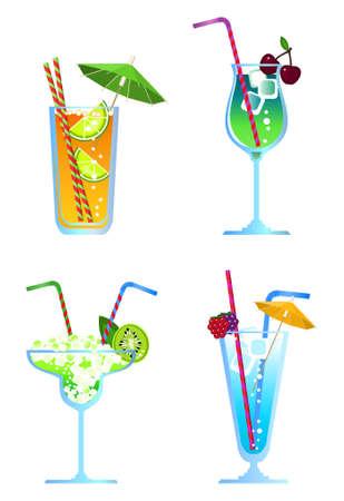 Clip-arts of cocktails