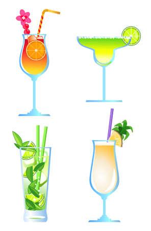 likeur: Clip-kunst van cocktails Stock Illustratie
