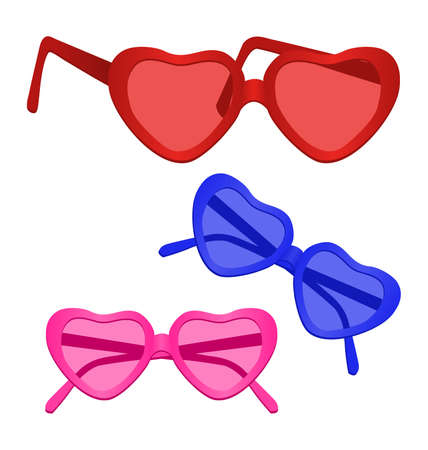 shades: Heart-shaped Sunglasses on white background