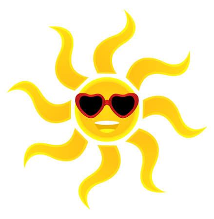 soleil souriant: Smiling Sun Lunettes de soleil