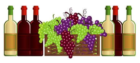 alcoholist: Clip-arts van wijn en fruit Stock Illustratie