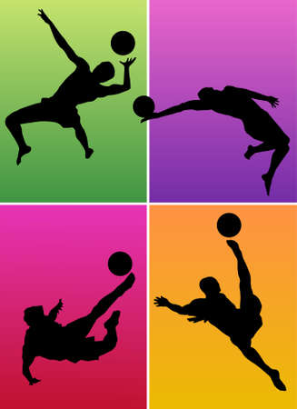 Silhouettes of sportsmen Vector