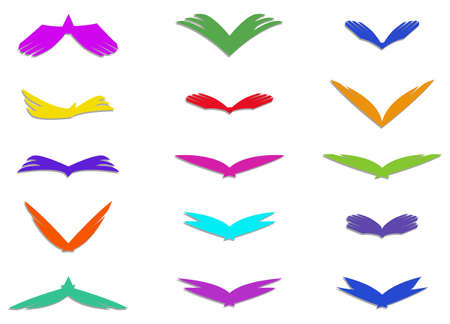 Illustration of wing icons Vector
