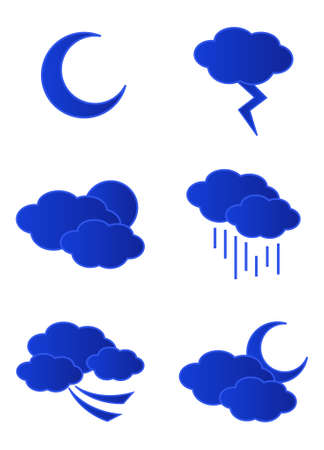Vector weather icons isolated on white background Stock Vector - 5789264