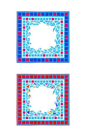 Illustration of mosaic frames on white background Vector